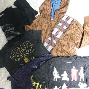 Lot of Star Wars Size 4-5 Boys Clothing